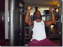 Deltoids and triceps of Shoulder press
