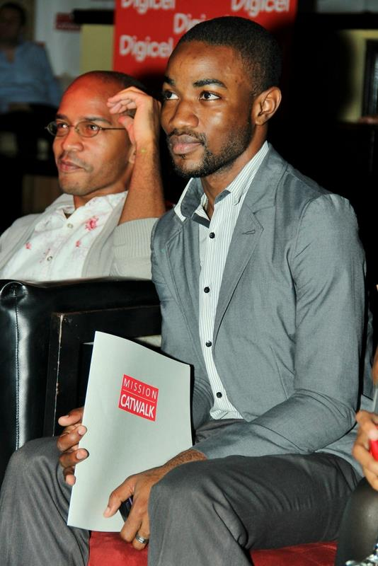Me and Omar Tomlinson at the finals of Mission Catwalk 2012.