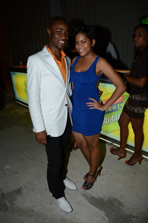 Me and Alyssa Taffe at the ATL World Party in MoBay.
