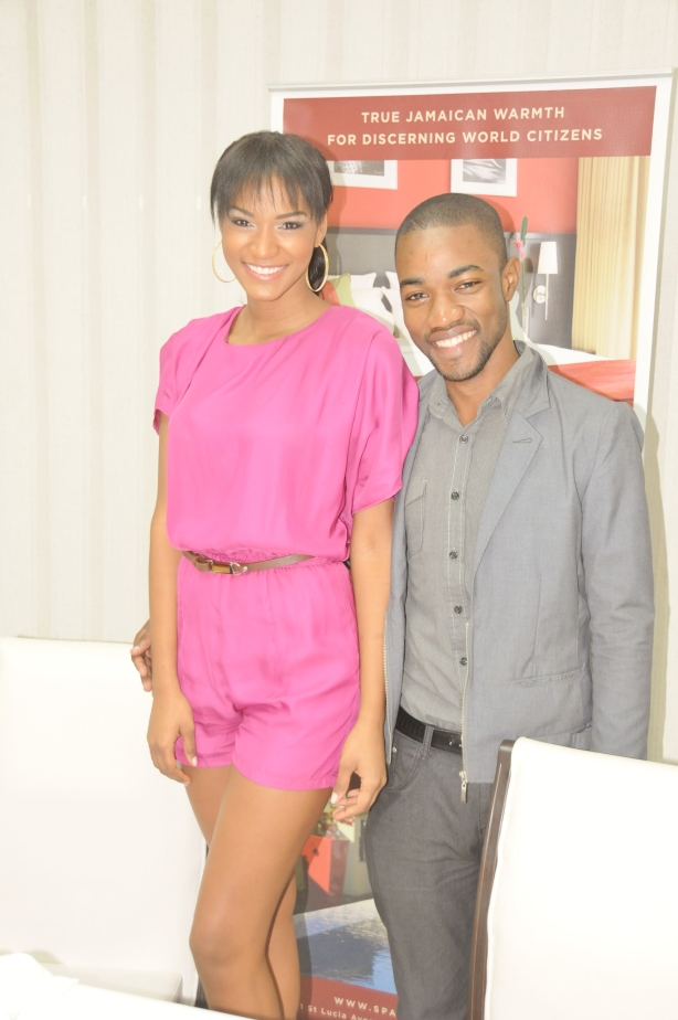 Of course I had to get a close-up with the insanely gorgeous Leila Lopes, Miss Universe 2011-2012.